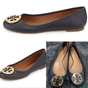 Tory Burch Reva Perforated Leather Ballet Flat 8